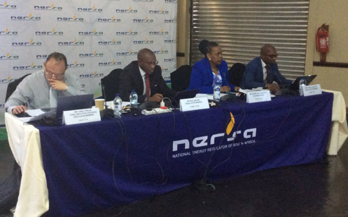 The Nersa panel listens to public comments on Eskom's request for tariff increases in Midrand on 24 February 2020. Picture: @NERSA_ZA/Twitter
