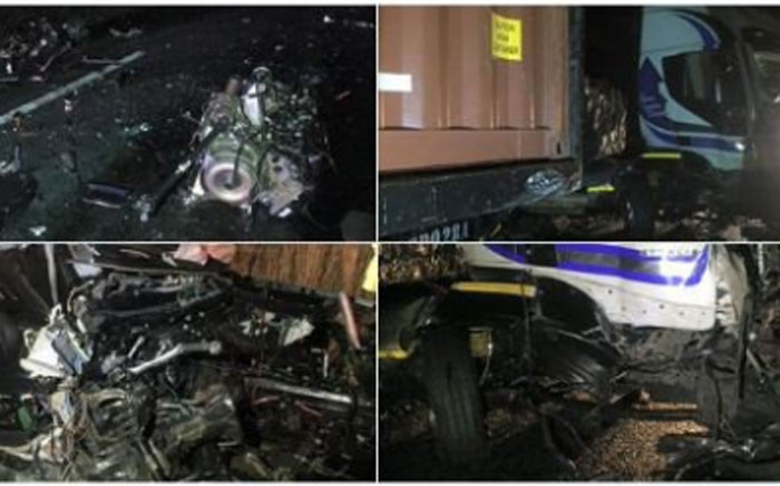 The remains of a crash on the N1 claims life of Mangaung Deputy Executive Mayor Connie Rampai. Picture: Twitter @_ArriveAlive.