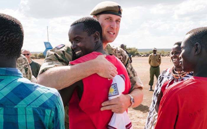 Prince William visited British troops in Kenya in combat fatigues in his role as Colonel General of the Irish Guards, a British Army infantry unit. Picture: @KensingtonRoyal/Twitter