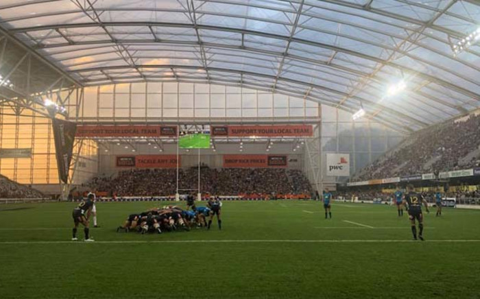 The Highlanders versus the Blues in the first of the New Zealand Super Rugby derbies at the Forsyth Barr Stadium. Picture: Highlanders Facebook