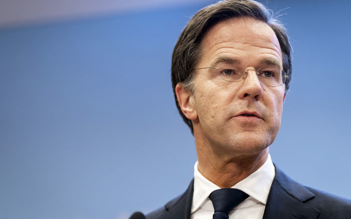 Dutch Prime Minister Mark Rutte gives a press conference in The Hague, on 12 January 2021, for an explanation of the COVID-19 measures in the Netherlands. Picture: Bart Maat/AFP
