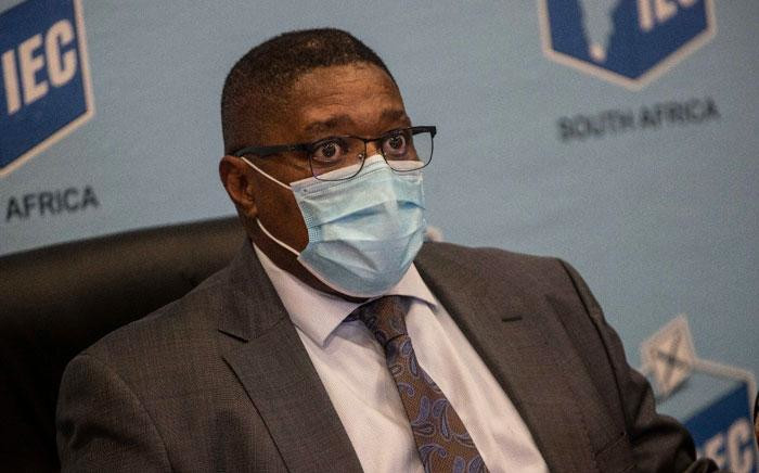 IEC chairperson Glen Mashini at a press briefing in Centurion, Johannesburg on 20 May 2021 on the upcoming local government elections. Picture: Abigail Javier/Eyewitness News