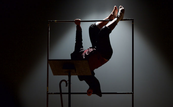 Tony Miyambo performs in 'Kafka's Ape' at the National Arts Festival in Makhanda. Picture: Supplied