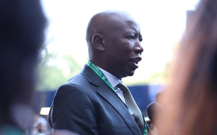 EFF leader Julius Malema at Loftus Stadium for President Cyril Ramaphosa's inauguration. Picture: Abigail Javier/EWN.