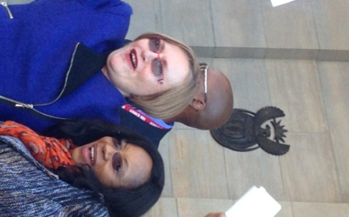 DA leader Helen Zille and Free State party leader Patricia Kopane in front of the Supreme Court of Appeal in Bloemfontein on Thursday, 28 August 2014. Picture: Sapa.