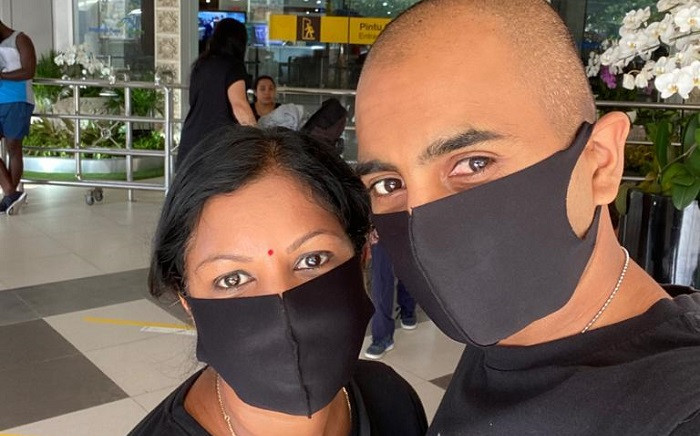 Vandinika Muruvan-Nathoo said a surprise holiday for her 40th birthday turned into a seven-week nightmare in Bali after a travel ban was enforced in the country and their funds dried up. Picture: Supplied
