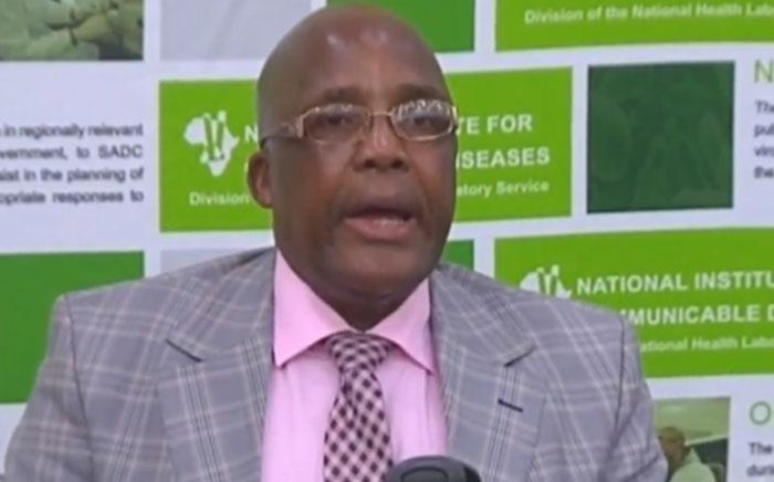 A screengrab of Health Minister Aaron Motsoaledi briefing the media on the listeriosis outbreak on 4 March 2018.