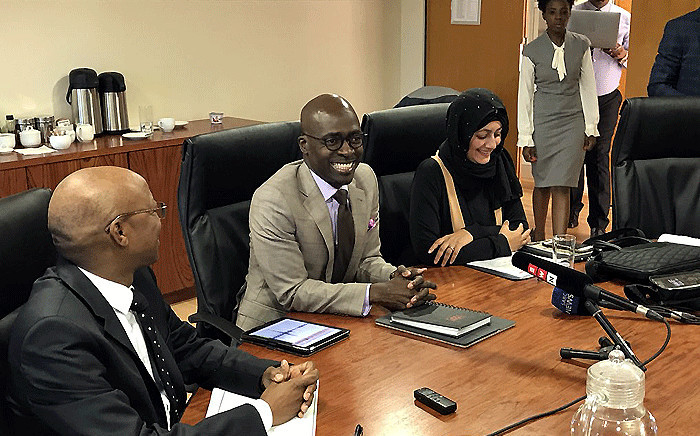 Home Affairs Minister Malusi Gigaba addresses the media on 2 March 2018. Picture: Barry Bateman/EWN