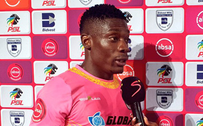 Baroka FC goalkeeper Elvis Chipezeze receives his Man of the Match award following the Absa Premiership match against Bidvest Wits on 6 August 2019. Picture: @Baroka_FC/Twitter
