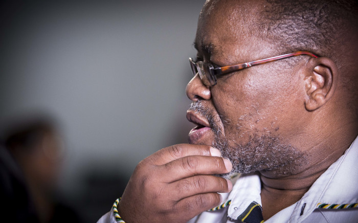 Gwede Mantashe of the ANC's NEC addresses the media at Luthuli House on Fees Must Fall. Picture: Thomas Holder/EWN