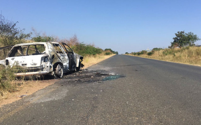 A third person who was also in the car is believed to be in a critical condition in hospital. Picture: Pelane Phakgadi/EWN.