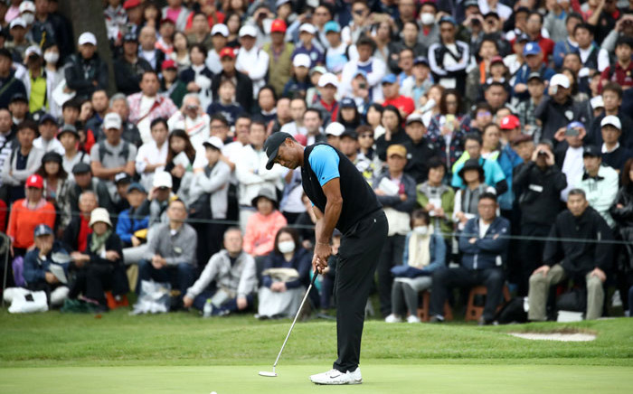 FILE: Tiger Woods makes a putt at the Zozo Championship on 27 October 2019. Picture: @PGATOUR/Twitter