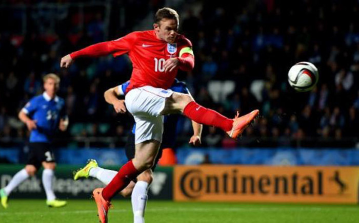 Wayne Rooney struck with a 74th-minute free kick to give England a 1-0 win over Estonia in Euro 2016 Group E on 12 October 2014. Picture: Facebook.