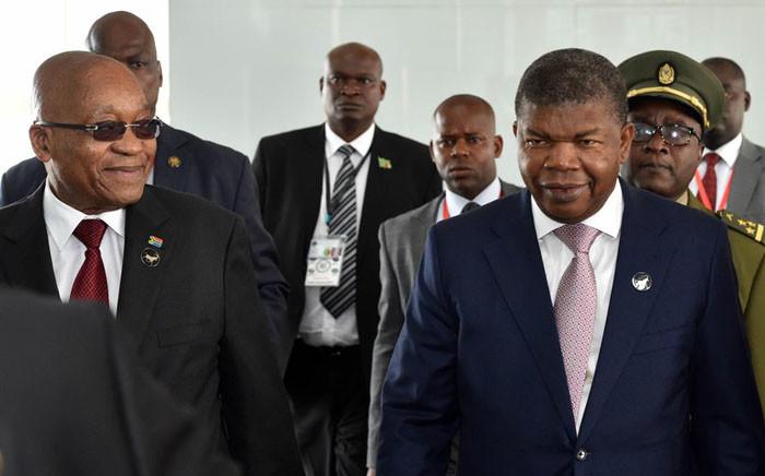 President Jacob Zuma with President João Lourenço of Angola and Zambian President Edgar Lungu at SADC Troika Summit held in Luanda, Angola. Picture: Twitter/ @GovernmentZA