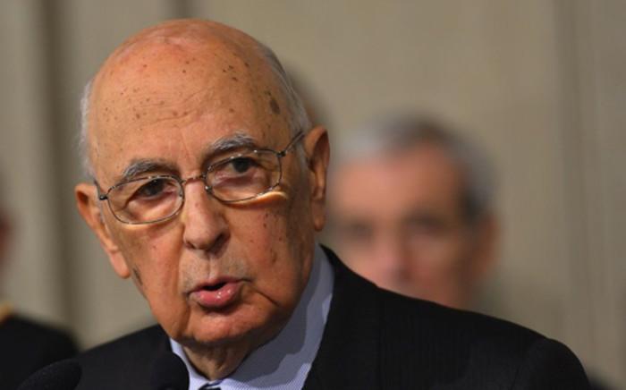 Italian President Giorgio Napolitano. Picture: AFP.