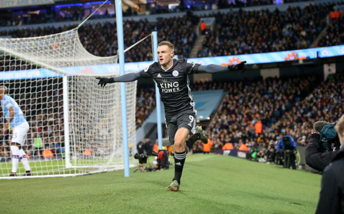 Leicester City striker Jamie Vardy. Picture: @LCFC/Twitter