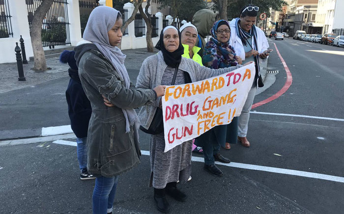 An anti-gang violence picket outside Parliament on 26 June 2019. Picture: Lauren Isaacs/EWN