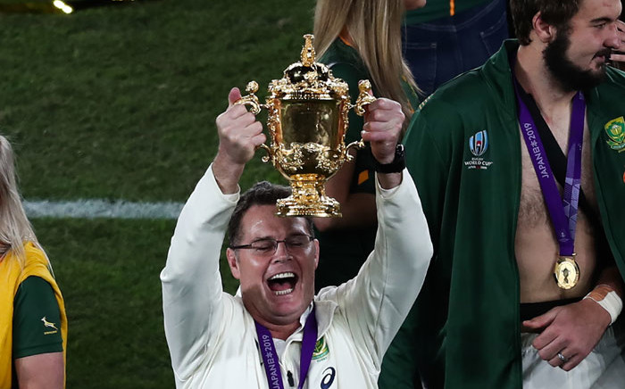 Springbok Director of Rugby Rassie Erasmus, the mastermind behind South Africa's 2019 Rugby World Cup title. Picture: AFP