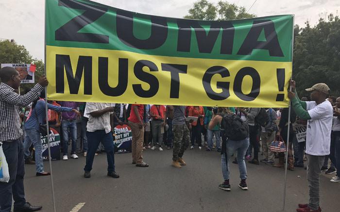 FILE: Anti-President Jacob Zuma marchers arriving at the Union Buildings. Picture: Kgothatso Mogale/EWN.