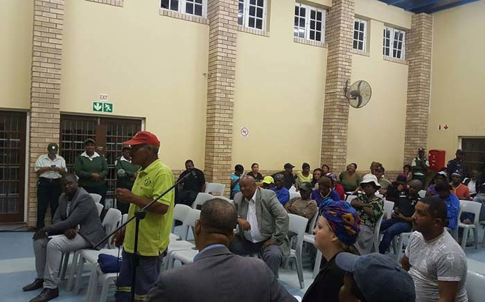 Nelson Mandela Bay residents are seen during a public participation meeting. Picture: facebook.com.
