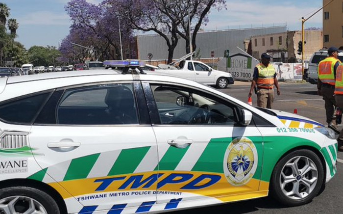 13 Tshwane Metro Police officers have been arrested for alleged corruption in different parts of the capital on Sunday, 9 August 2020. Picture: RTMV/Twitter