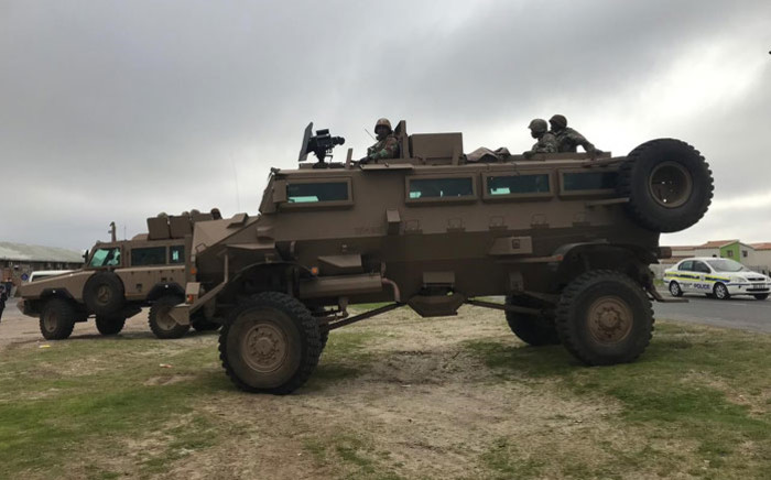 SANDF troops arrive in Manenberg, Cape Town on 18 July 2019. Picture: Kaylynn Palm/EWN