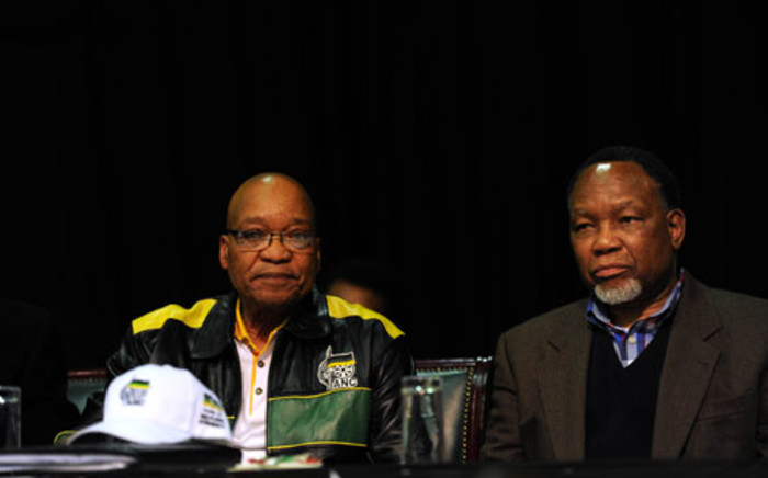 President Jacob Zuma and President Kgalema Motlanthe are seen at the ANC's 2012 policy conference in Midrand. Picture: SAPA