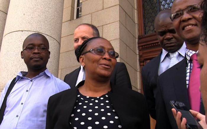 FILE: Communications Portfolio Committee chair Joyce Moloi-Moropa outside Western Cape High Court. Picture: Aletta Harrison/EWN