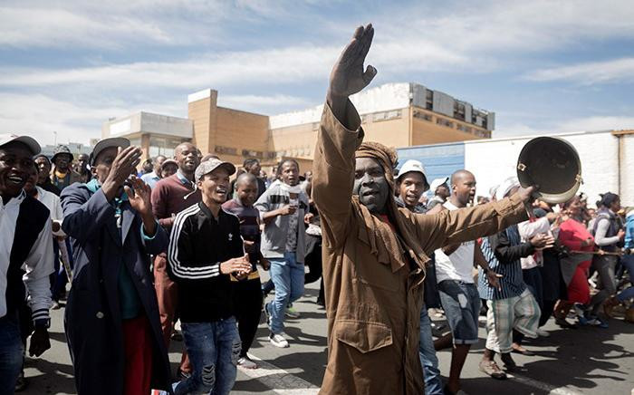 Alexandra residents march to the City of Johannesburg local municipal offices on 8 April 2019. Picture: Sethembiso Zulu/EWN