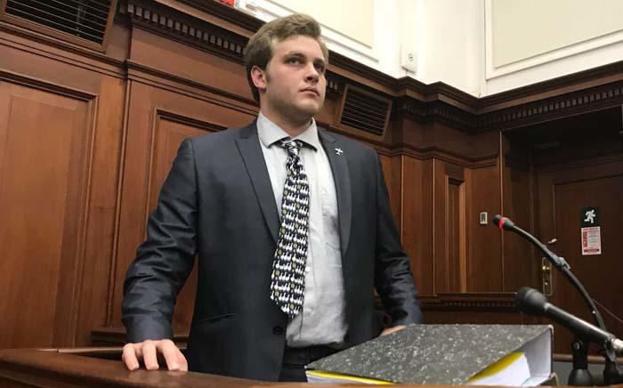 Murder accused Henri van Breda testifies at the Western Cape High Court on 31 October 2017. Picture: Monique Mortlock/EWN.