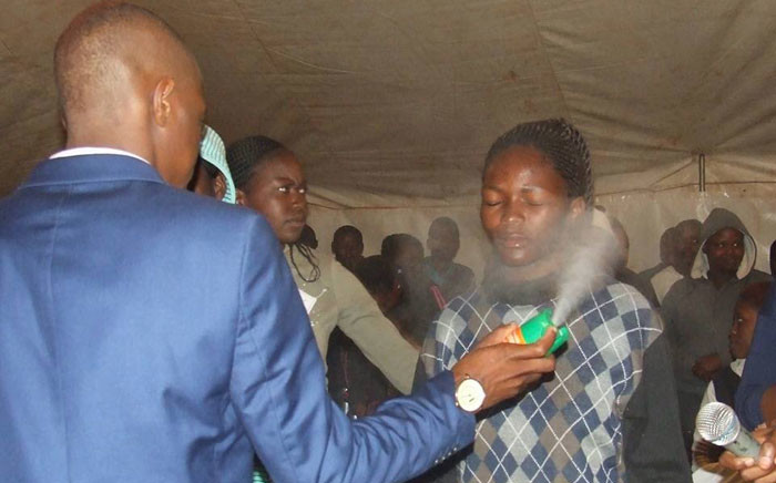 FILE: Prophet Lethebo Rabalago of the Mount Zion General Assembly Church insists the use of Doom is a healing method that can cure people suffering from various illnesses. Picture: Facebook.
