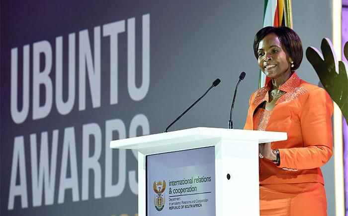Minister of Rural Development and Land Reform Maite Nkoana-Mashabane. Picture: @DIRCO_ZA/Twitter