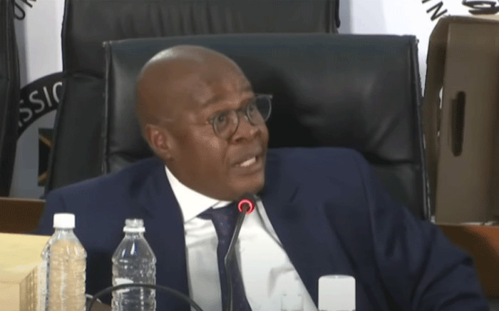 Former Eskom CEO Brian Molefe appears at the state capture inquiry on 15 January 2021. Picture: SABC/YouTube.