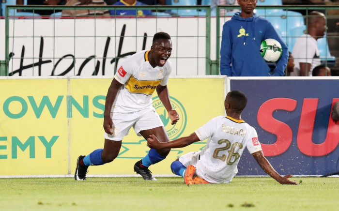 Nana Akosah-Bempa scored the only goal between Cape Town City and Sundowns on 20 December 2017. Picture: Twitter/@CapeTownCityFC