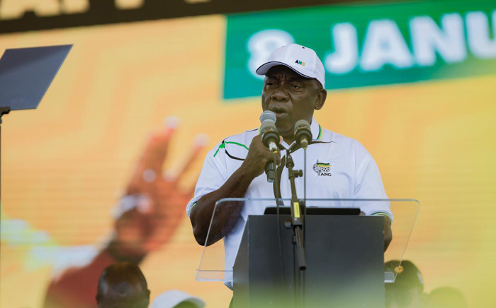 ANC President Cyril Ramaphosa delivers January 8 statement at the Tafel-Lager Park Stadium in Kimberley, on Saturday 11 January 2020. Picture: Sethembiso Zulu/EWN