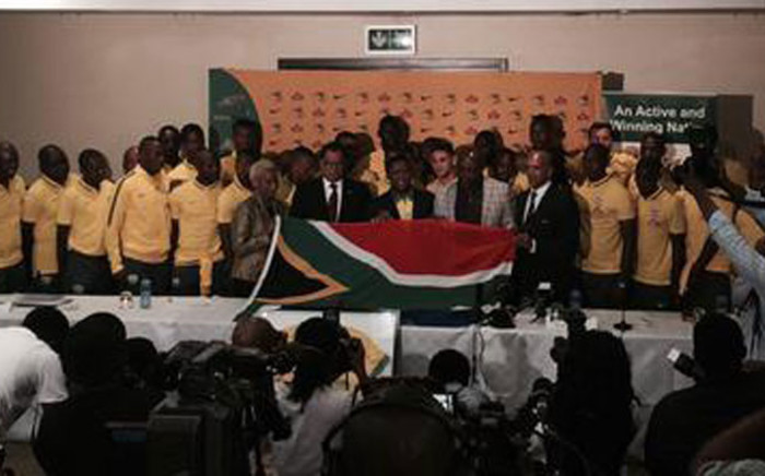 Bafana Bafana send off at OR Tambo Internation Airport to the 2015 Africa Cup of Nations (Afcon). Picture: Marc Lewis/EWN.