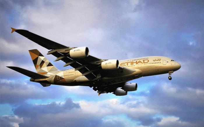 An Etihad Airways A380. Picture: @EtihadAirways/Twitter