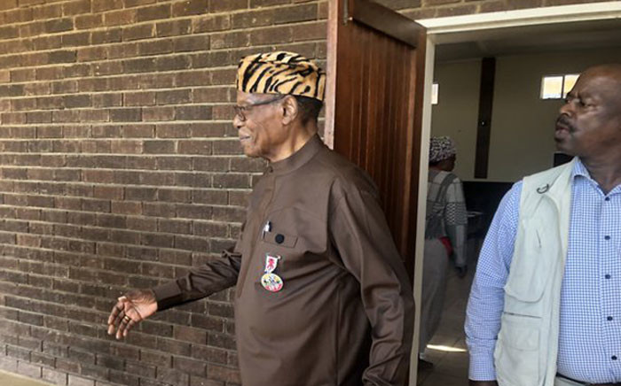 IFP leader Mangosuthu Buthelezi leaves the voting station in Ulundi, KwaZulu-Natal on 8 May 2019. Picture: EWN