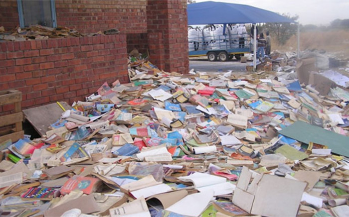 The DA claims these textbooks are being destroyed in Limpopo. Picture: Twitter: @HelenZille.