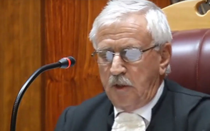 A screengrab of a Bloemfontein High Court making a ruling on on the preservation order matter between controversial businessman Atul Gupta and the Bank of Baroda.