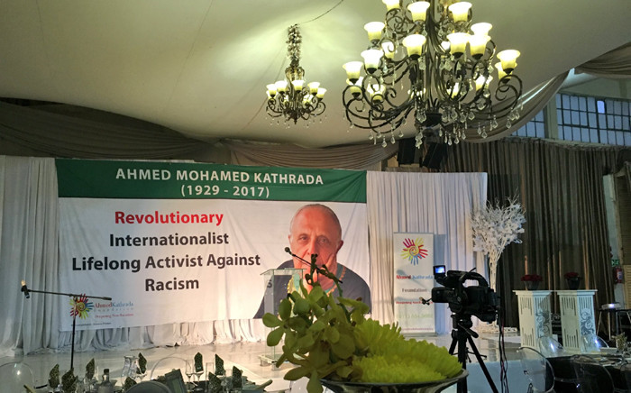 A view of the stage at the Ahmed Kathrada Foundation's Annual Fundraising Banquet in Fordsburg. Picture: Katleho Sekhotho/EWN.