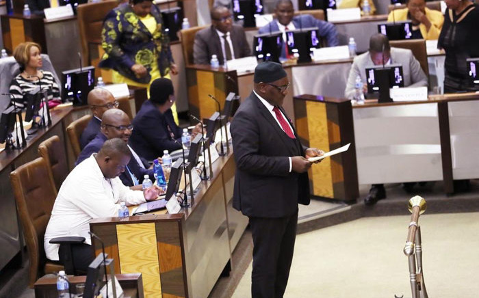 Premier David Makhura in the Gauteng legislature on 22 May 2019. Picture: @GautengProvince/Twitter