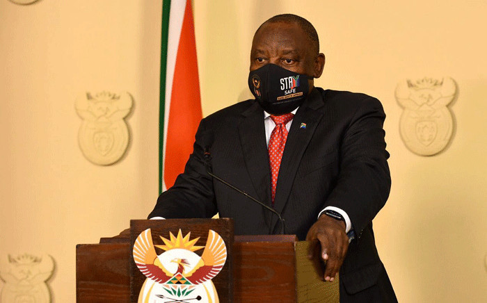 FILE: President Cyril Ramaphosa addresses the nation on lockdown restrictions. Picture: GCIS.