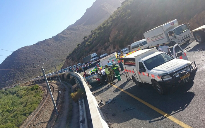 Three people have been killed and three others injured in a collision on the N1 outside De Doorns. Picture: Supplied.