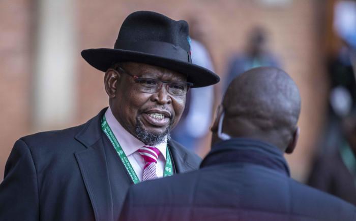 Enoch Godongwana at Loftus stadium ahead of the inauguration of Cyril Ramaphosa as the sixth democratically elected president. Picture: Abigail Javier/EWN.