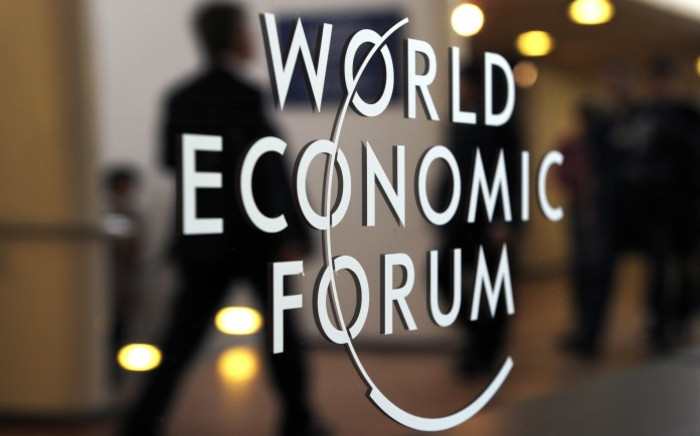 FILE: A logo of the World Economic Forum (WEF). Picture: AFP.