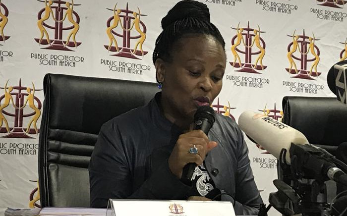 FILE: Public Protector Busisiwe Mkhwebane during a press briefing. Picture: Kgothatso Mogale/EWN.