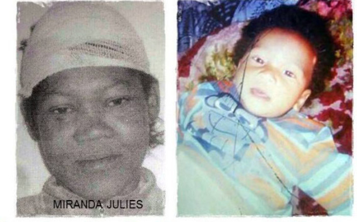 A screengrab showing a combination picture of Miranda Julies and Lucas Cedras. Picture: Facebook.com.