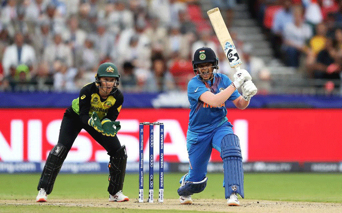 India vs Australia in the T20 World Cup on 21 February 2020. Picture: @ICC/Twitter.