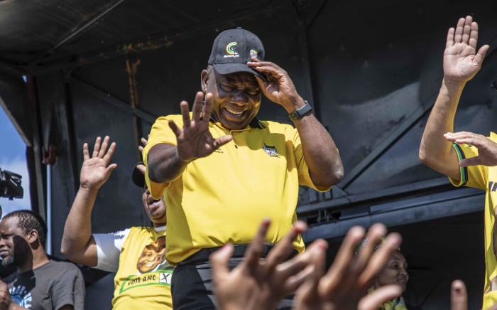 ANC President Cyril Ramaphosa visits Polokwane for a door-to-door election campaign for the ruling party. Picture: Abigail Javier/EWN